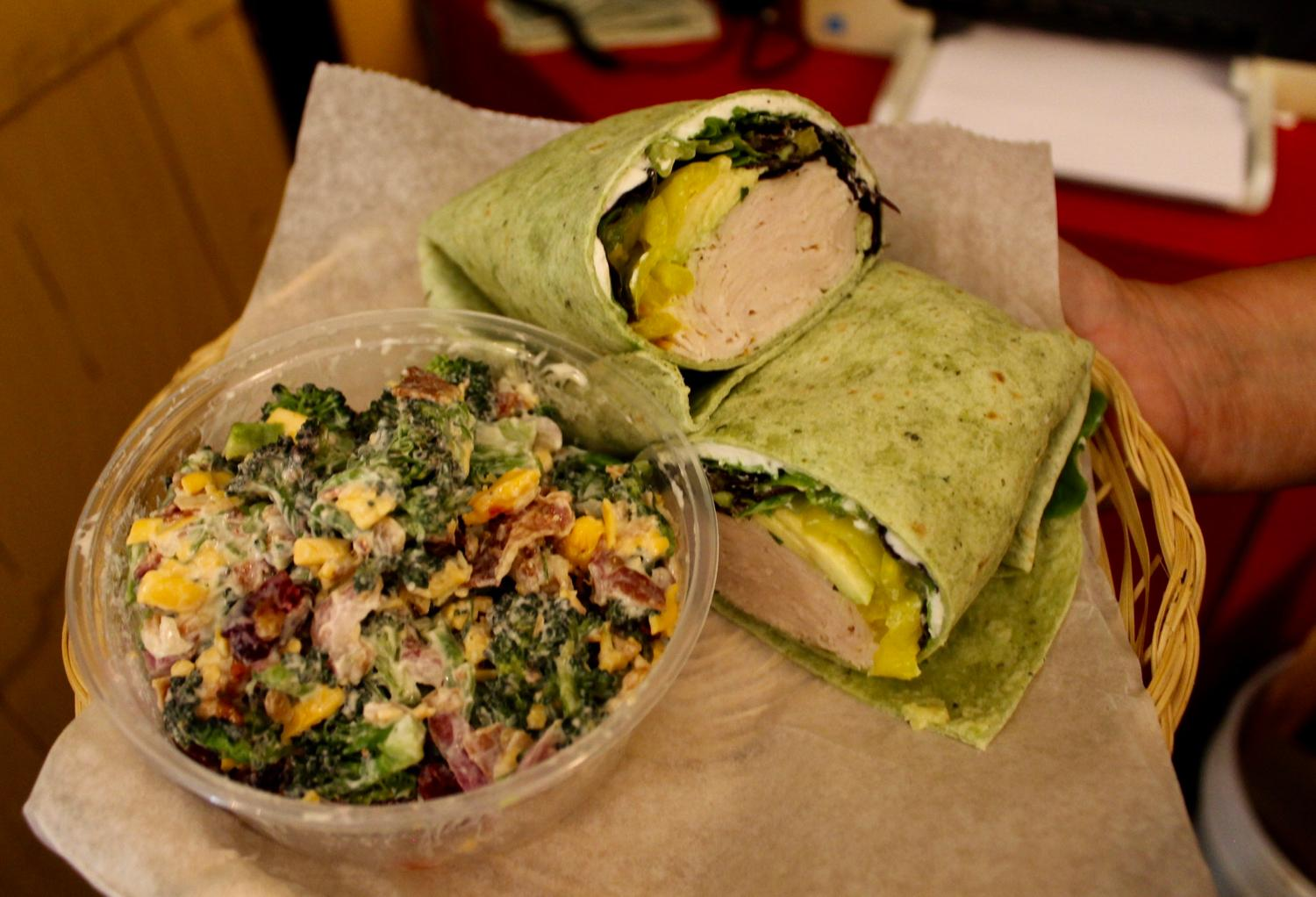 Jo Mama Wrap: turkey, herbed cream cheese, lettuce, cucumber, and avocado / Image: Rose Brewington // Published: 7.29.17