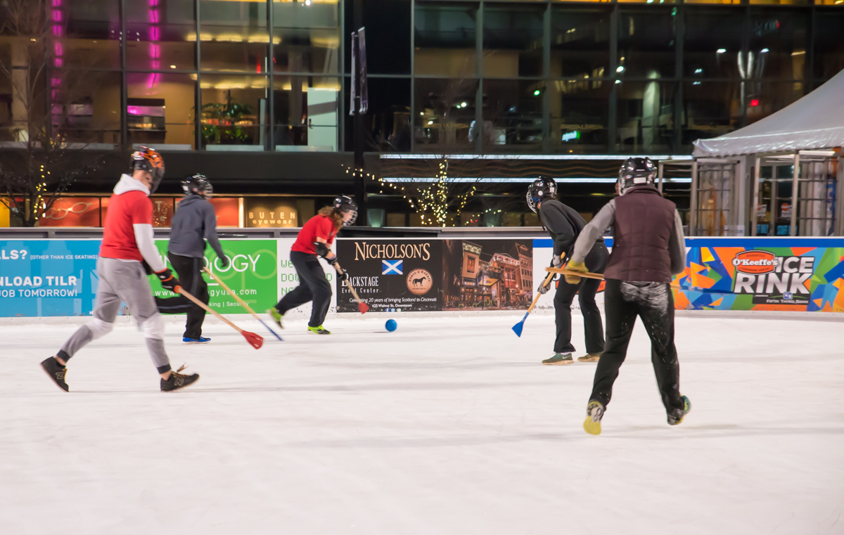Every Monday through Thursday until February 16, Broomball is played on the ice rink at Fountain Square from 6 p.m. to 10 p.m. ADDRESS: 520 Vine Street (45202) / Image: Sherry Lachelle Photography // Published: 1.16.18