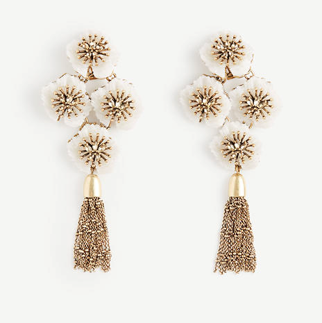 Ann Taylor Textured Floral Statement Earrings, $59.50, anntaylor.com (Image: Courtesy Ann Taylor)