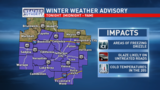 Winter Weather Advisory for freezing drizzle tonight