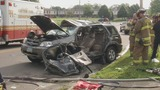Man trapped in SUV after hit-and-run crash in Dayton, suspect at large