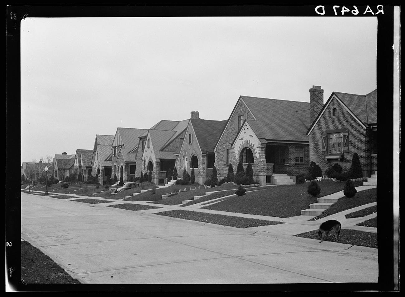 """House on Laconia Street in a suburb of Cincinnati, Ohio"" in December 1935{ }/ Image: Carl Mydans for the U.S. Farm Security Administration/Office of War Information accessed via the Library of Congress // Published: 3.4.19"