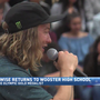 David Wise visits his alma mater Wooster High School