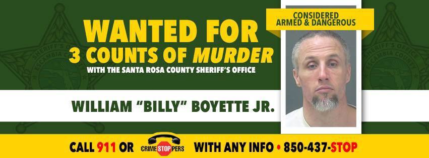 "William ""Billy"" Boyette, Jr., 44, is a suspect in the killings of two women in Northwest Florida last Tuesday as well as the alleged murder of another woman in Alabama on Friday."