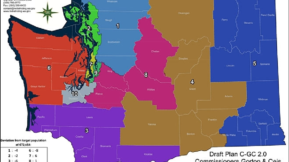 Redistricting Panel OKs New Political Maps KOMO - Washington political map