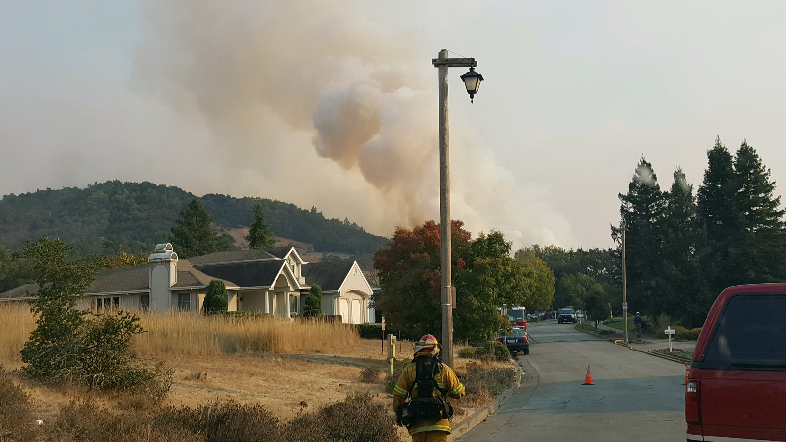 The Lane County Strike Teams are stationed near the Nunn Fire in Santa Rosa, Calif. (Submitted photo)