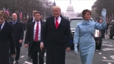 Live: President Trump walks along the Inaugural Parade route