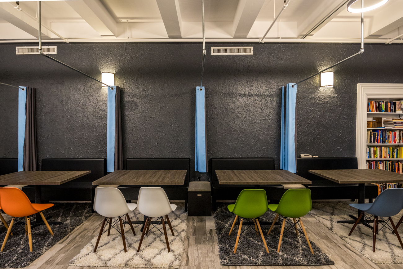 The Covington coworking space is perfect for startups, entrepreneurs, remote workers, temp workers, and more. Their memberships range from $99/month for a solo floating desk with locker access all the way up to $1000/month for a larger room with a locking door, which serves as a great option for a small business. / Image: Catherine Viox // Published: 10.5.20