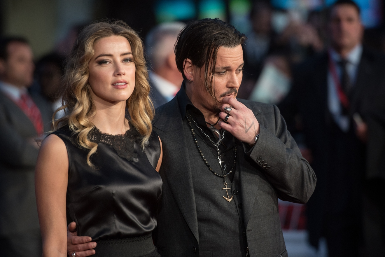 BFI LFF: Black Mass gala screening held at the Odeon Leicester Square - Arrivals.  Featuring: Amber Heard, Johnny Depp Where: London, United Kingdom When: 11 Oct 2015 Credit: Daniel Deme/WENN.com