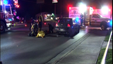 Man crossing the road fatally struck by vehicle