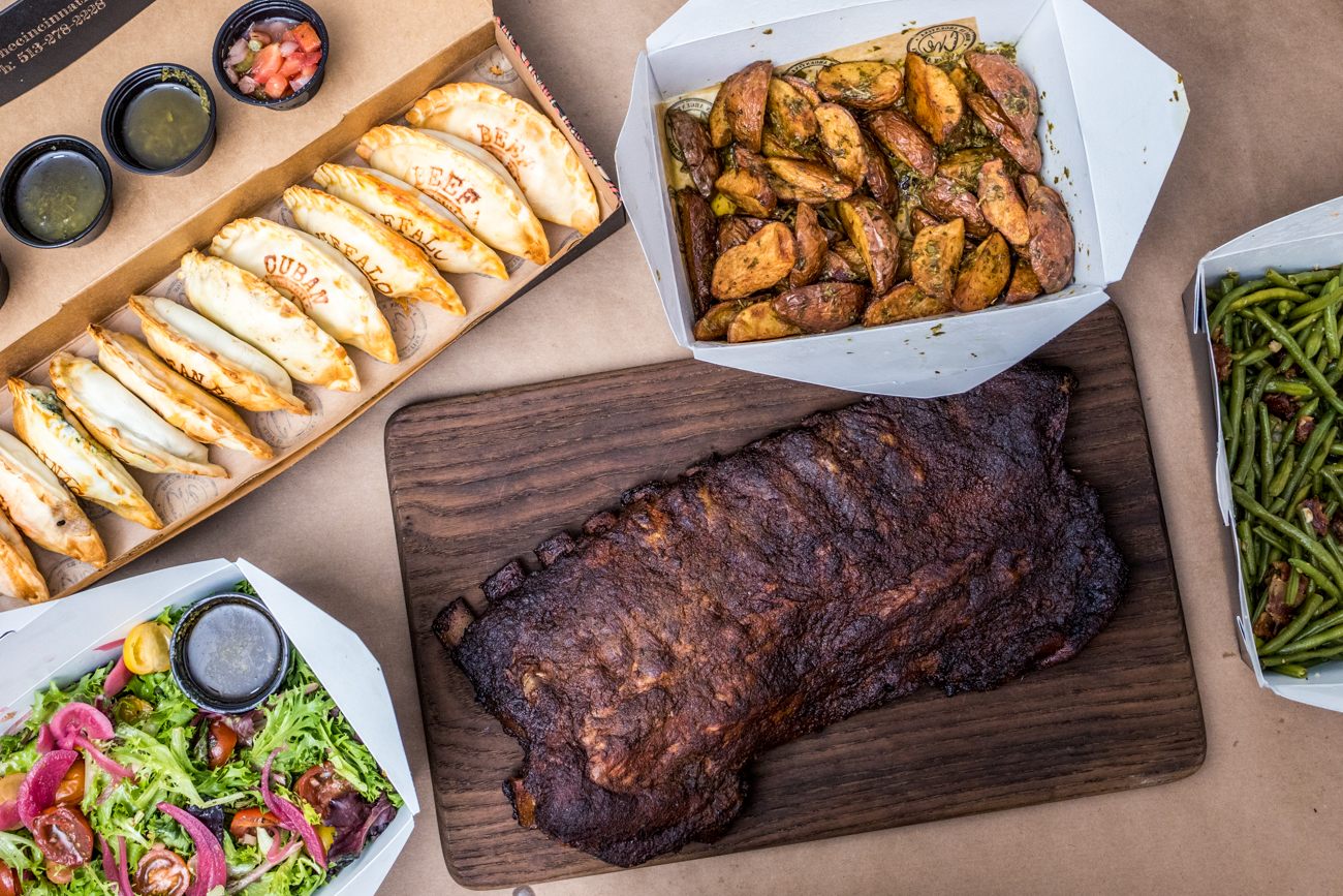 "PLACE: Ché / ADDRESS: 1342 Walnut Street (Over-the-Rhine) / Empanadas, chimichurri roasted red potatoes, green beans and bacon, Criolla Salad, and ribs /{&nbsp;}<a  href=""https://checincinnati.com/order-carryout-online/"" target=""_blank"" title=""https://checincinnati.com/order-carryout-online/"">Order online</a>{&nbsp;}or with{&nbsp;}<a  href=""https://www.doordash.com/store/174399/en-US/?utm_source=partner-link&utm_medium=website&utm_campaign=174399"" target=""_blank"" title=""https://www.doordash.com/store/174399/en-US/?utm_source=partner-link&utm_medium=website&utm_campaign=174399"">DoorDash{&nbsp;}</a>/ Image: Catherine Viox // Published: 1.10.21"