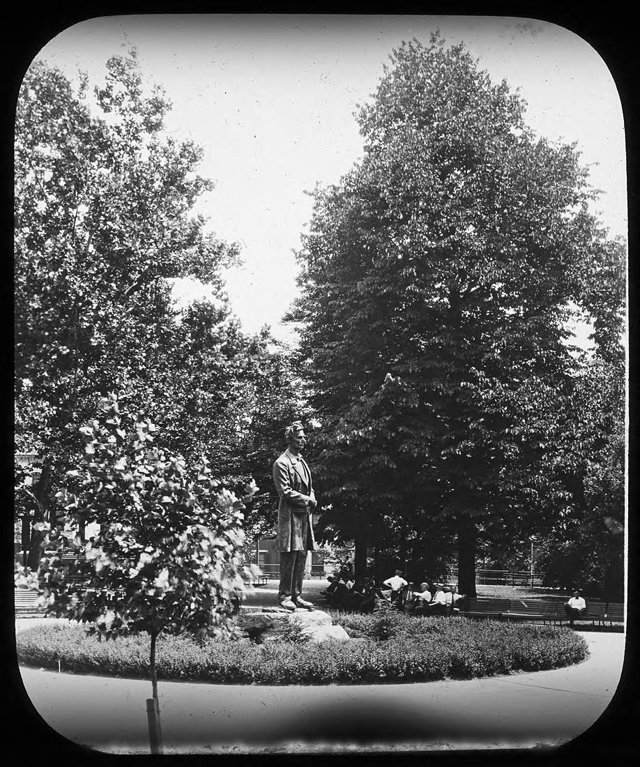 FACT #22: It left the park for three years / DETAILS: During construction of the I-71 tunnel, the statue was moved to the entrance of the Garfield School in 1967. It returned after construction completed in December of 1970. SOURCE: 'Back Where He Belongs' in the Cincinnati Enquirer, December 11, 1970 / Image courtesy of the Public Library of Cincinnati and Hamilton County from the Joseph S. Stern, Jr. Cincinnati Room // Published: 4.2.20