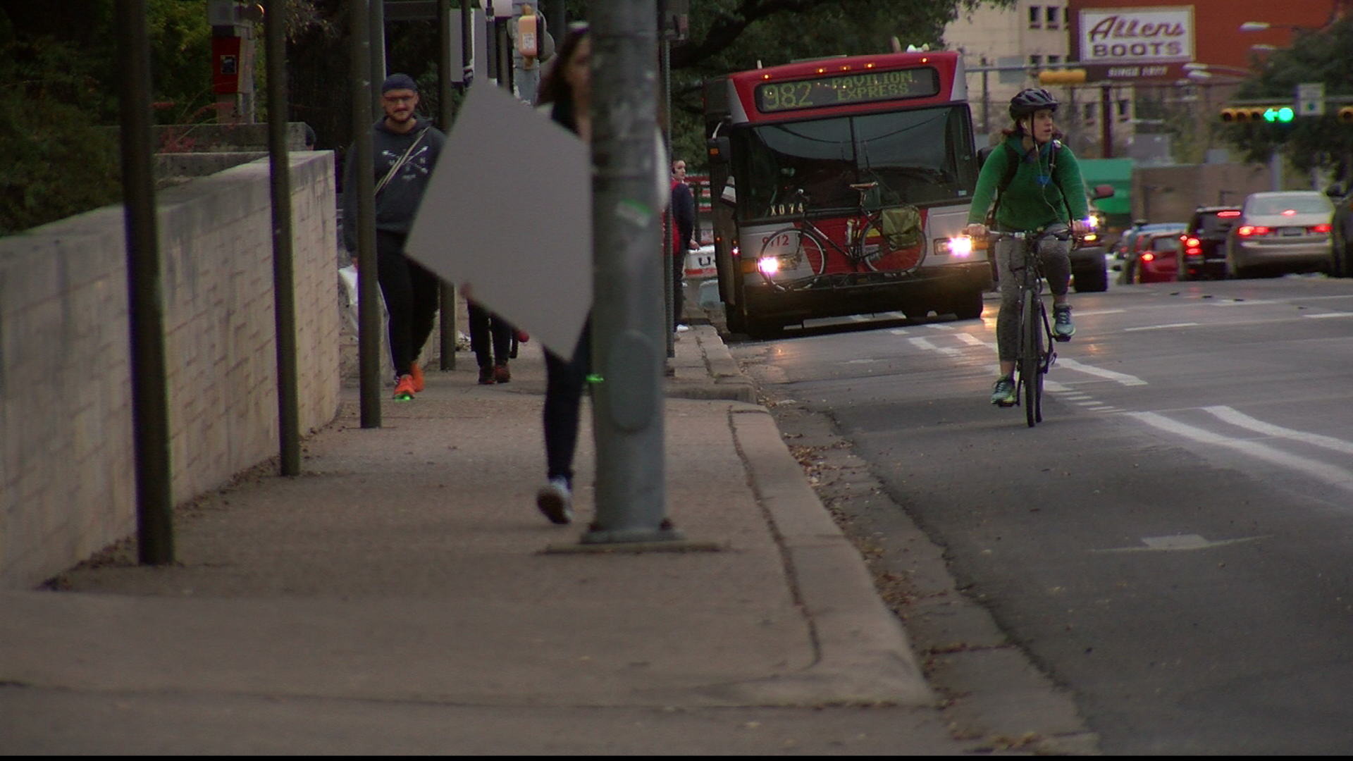 Some traffic changes could be in store for Guadalupe Street near the University of Texas at Austin campus. The City of Austin is looking at ways to make Guadalupe a less congested corridor. (CBS Austin)