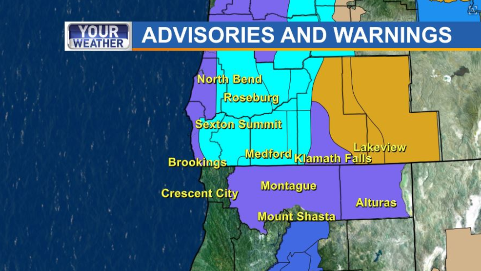 Winter Storm Warning Bring It On Says >> Winter Storm Will Bring Snow Cold Temperatures To Southern Oregon