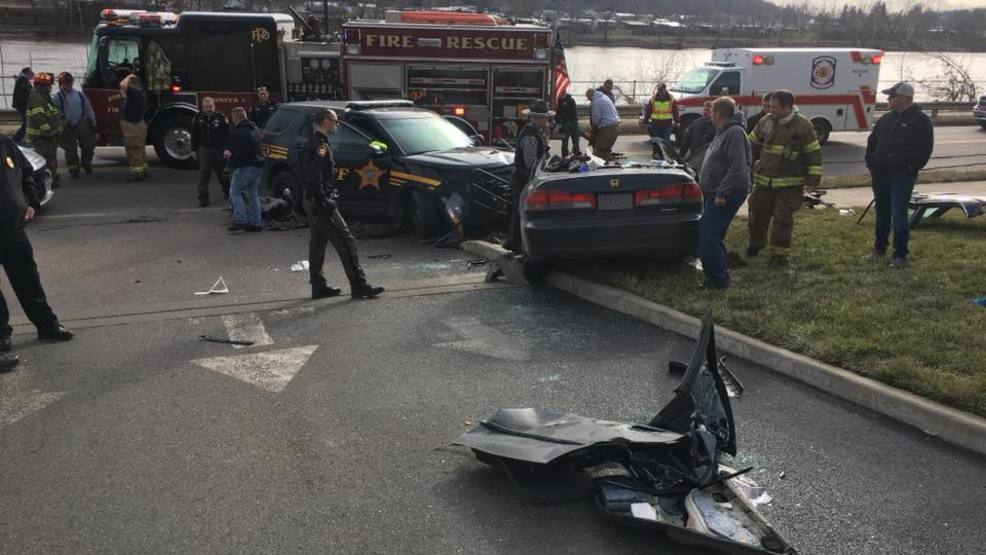 Ohio State Highway Patrol Says Two Occupants In The Vehicle And A Deputy  Were Hospitalized Following The Crash On Wednesday In Pomeroy, Ohio.