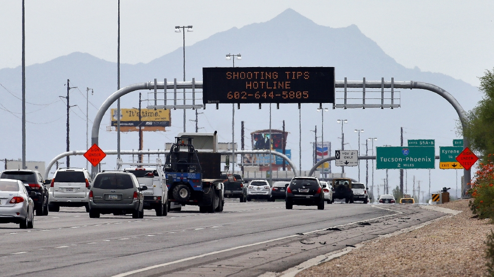 Projectile hits 11th car in phoenix amid spate of for Department of motor vehicles chandler az