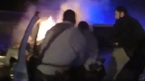 Dramatic video: D.C. Police rescue man from burning car after crash