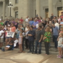 Locals take to the capitol steps to hold vigil for Charlottesville