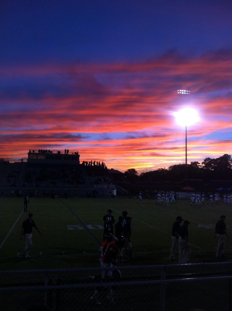 Sunset before Marbury's home game against Central-Clay, Friday, Oct. 3, 2014.