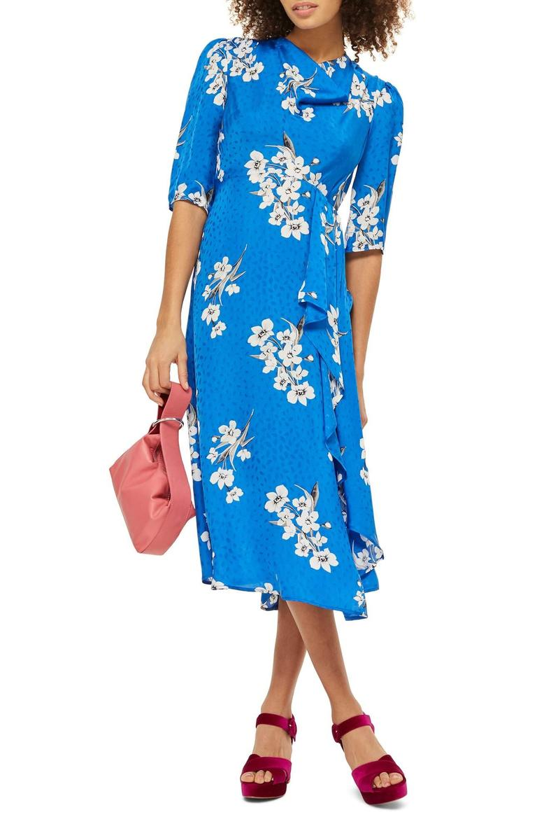 <p>Floral print is not going anywhere anytime soon.{&amp;nbsp;} Check out this Floral Print Midi Dress/TOPSHOP.{&amp;nbsp;}Elegant white flowers pattern a whimsical, jacquard-woven dress with a flowing hemline that falls just below the knee. Super flattering! $125.00 at Nordstrom. (Image: Nordstrom){&amp;nbsp;}</p><p><br></p><p></p>