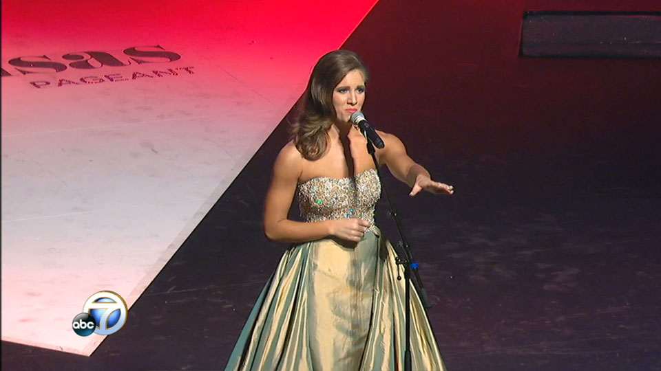Miss Arkansas talent portion: Maggie Benton Singing (KATV photo)