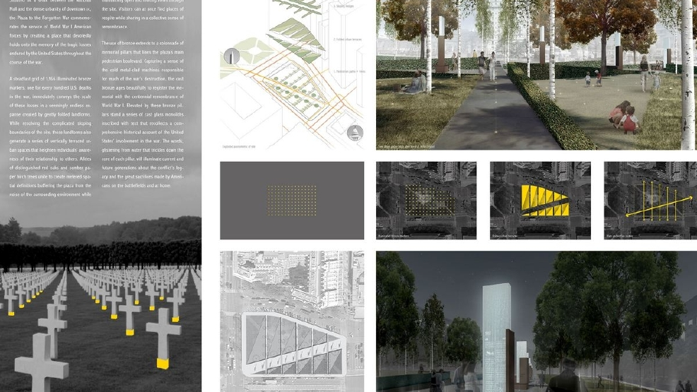 5 finalists in contest to design world war i memorial in for Architectural concepts pensacola florida