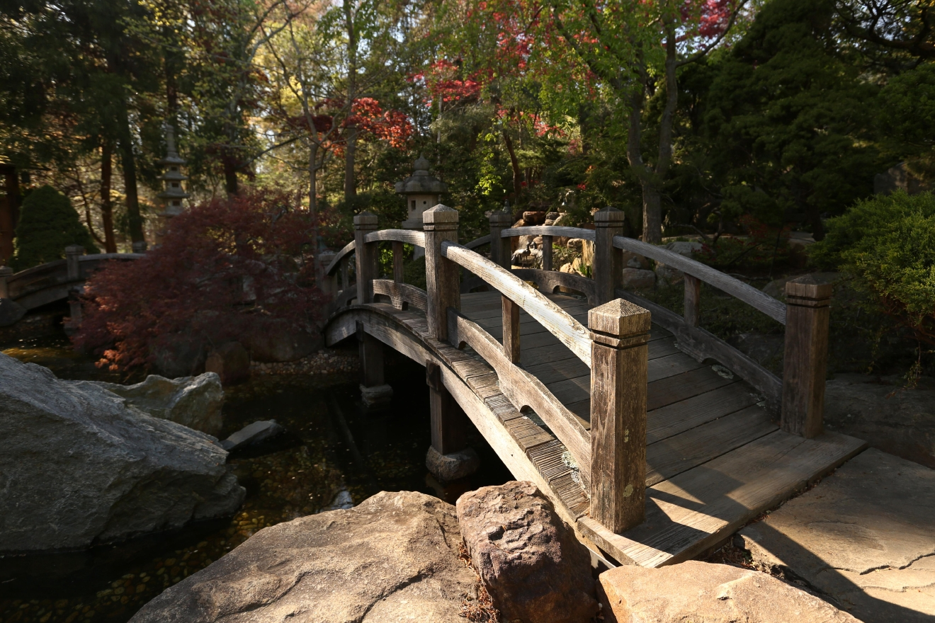 The Japanese-style garden also features several benches and quiet nooks. (Amanda Andrade-Rhoades/DC Refined)