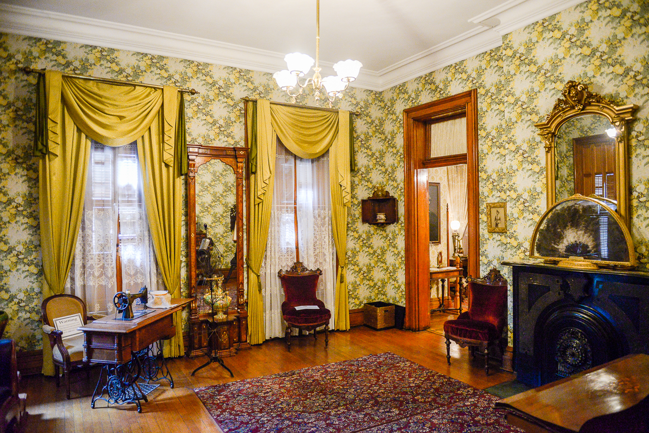 The Benjamin Harrison Presidential Site is beautifully furnished with many of Harrison's paintings, furniture, and other artifacts, including political memorabilia. / Image: Visit Indy // Published: 10.23.20