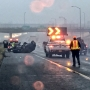Summer rain makes for slippery road conditions; several crashes reported