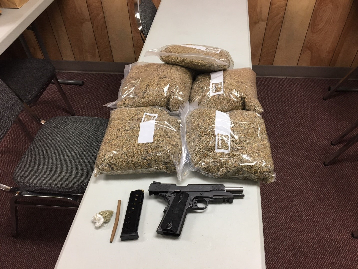 (image: BMPD)  Three arrested with 9 lbs of Spice in Bay Minette