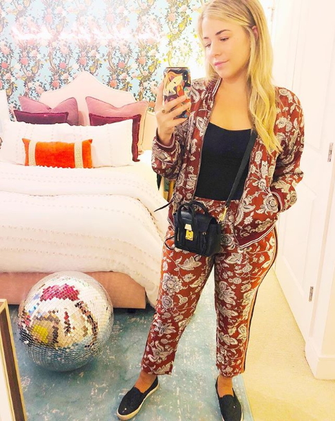 Once upon a time, track suits were reserved for Soviet teenagers. Thankfully we live in an era where you can get a super comfy look while looking chic - it's all about the pattern. (Image via @libbylivingcolorfully)