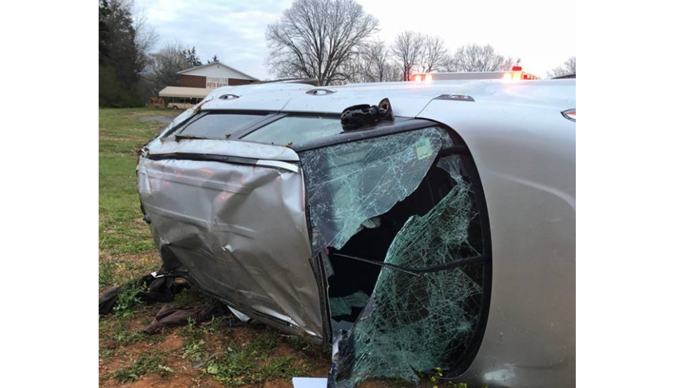 Police one person transported to hospital after car flips for M and m motors appomattox