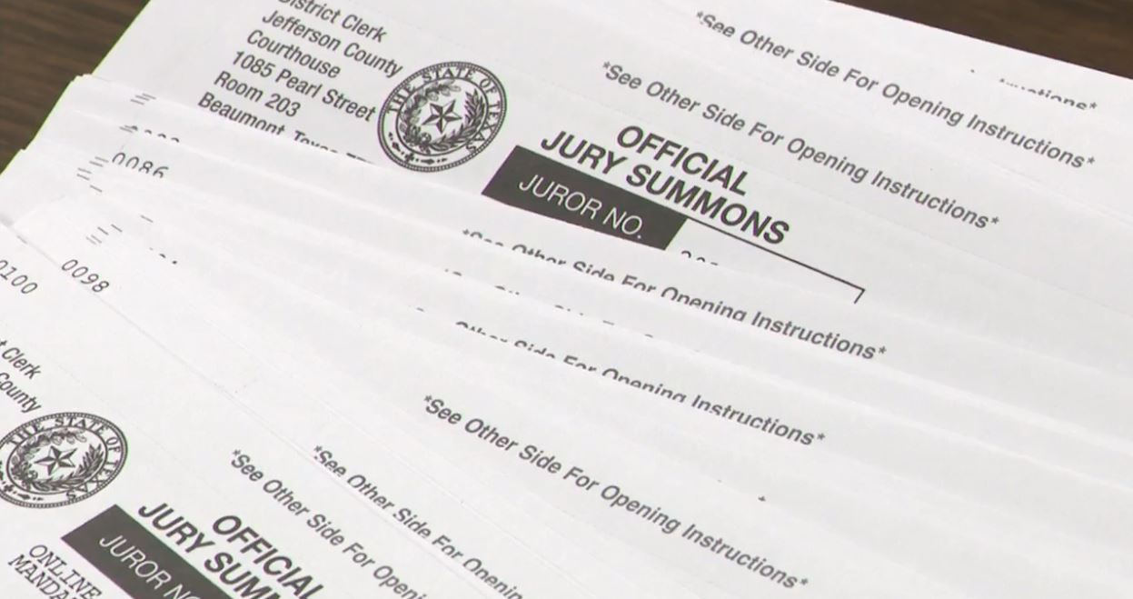 Jefferson Co. civil trials delayed due to lack of jurors created by Harvey