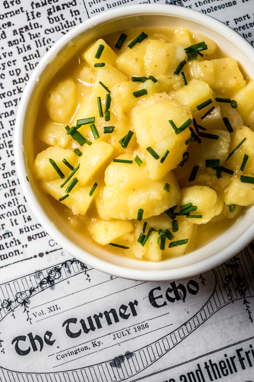 Kartoffelsalat, a traditional German boiled potato salad / Image: Catherine Viox{ }// Published: 12.17.19