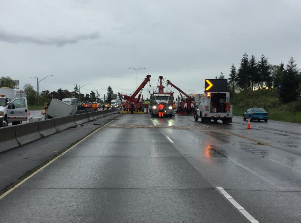 Tacoma semi-truck crash (Photo: Washington State Patrol)