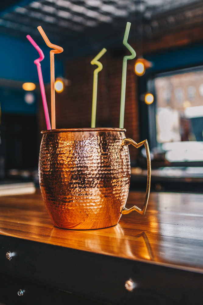 Proper Mule: Tito's Vodka, lime juice and ginger beer in a shareable size / Image: Catherine Viox // Published: 2.25.19