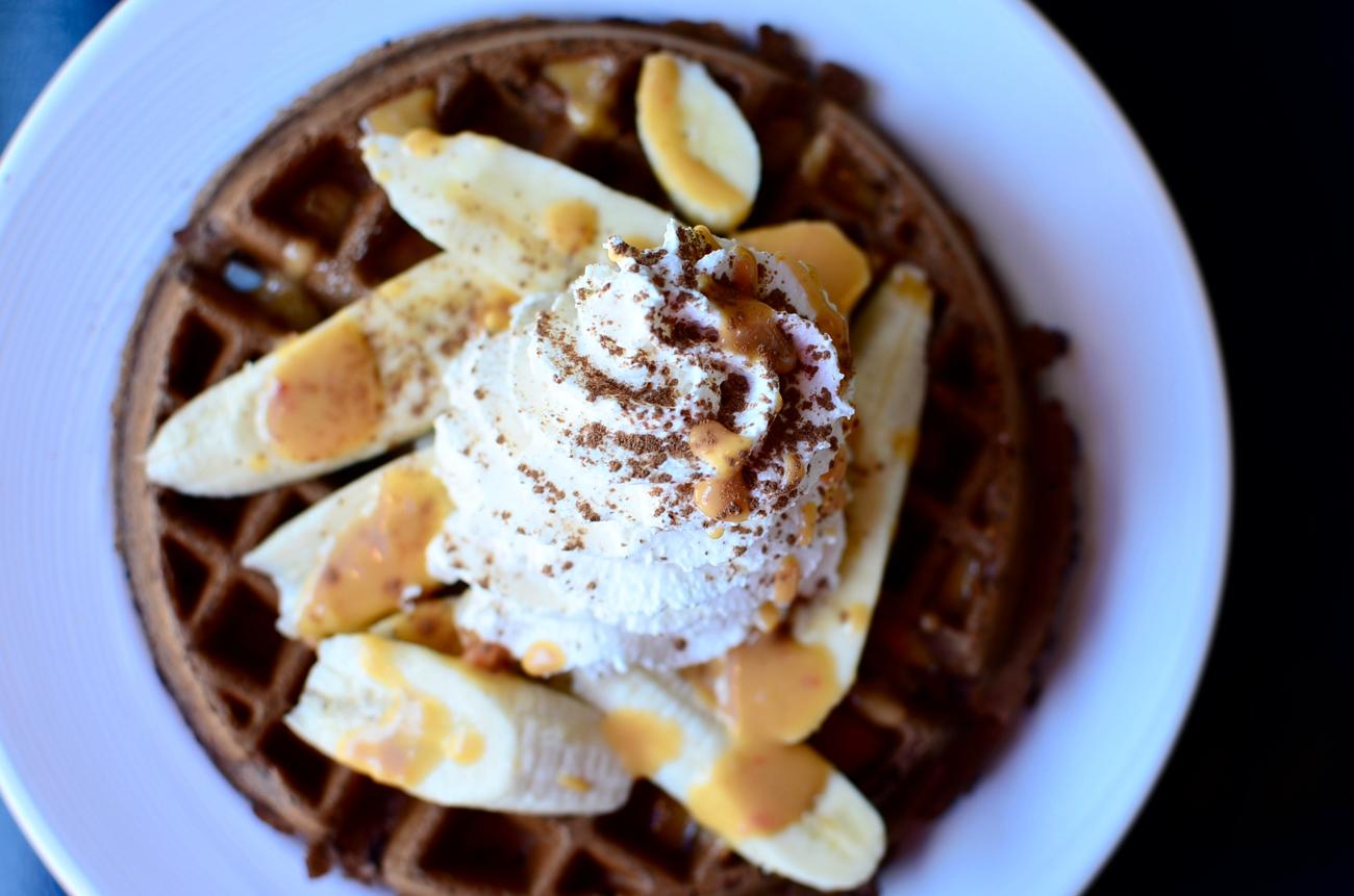 The Elvis: chocolate waffle, banana, and sweet chili peanut sauce / Image: Leah Zipperstein, Cincinnati Refined // Published: 9.6.17