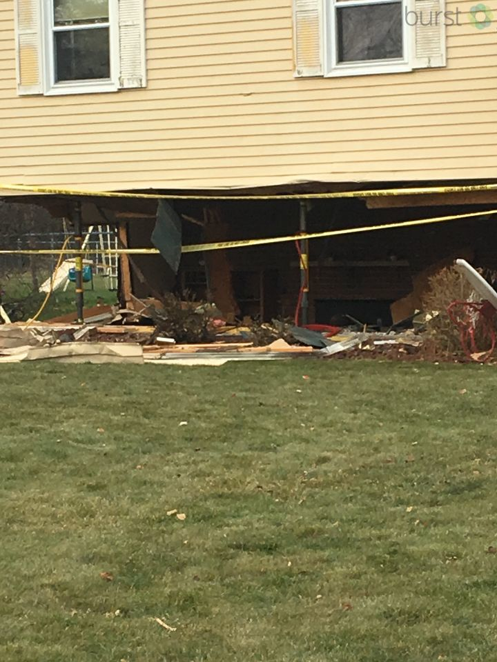 Bangor Township Police say a 23-year-old man is in critical condition after his vehicle plowed into a home. (Photo Credit: Marketia Bady){&amp;nbsp;}<p></p>