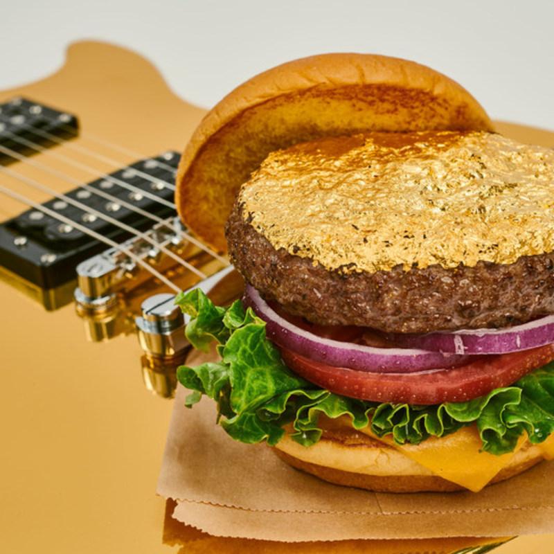 burger with edible 24-Karat gold