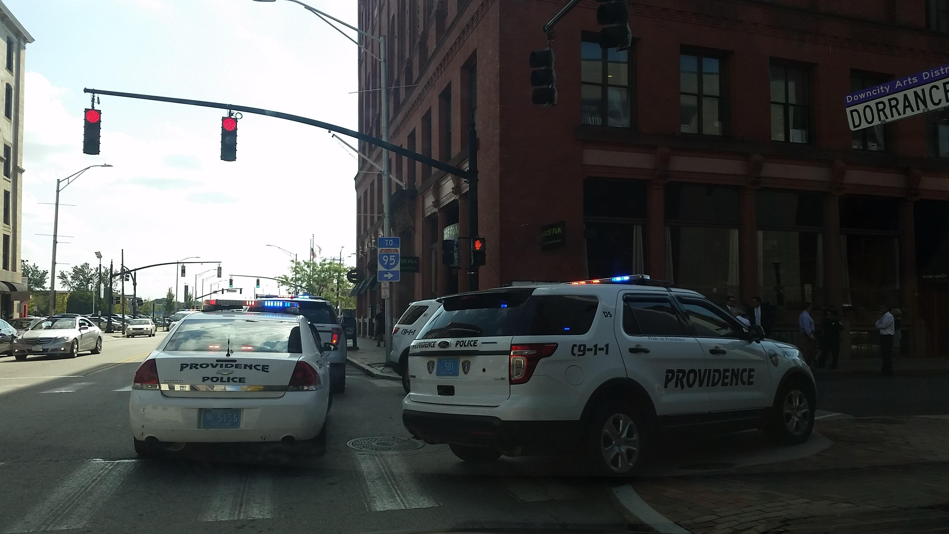 Providence police said at least one shot was fired at Dorrance and Pine streets during a scuffle, Thursday, Sept. 28, 2017. (WJAR)