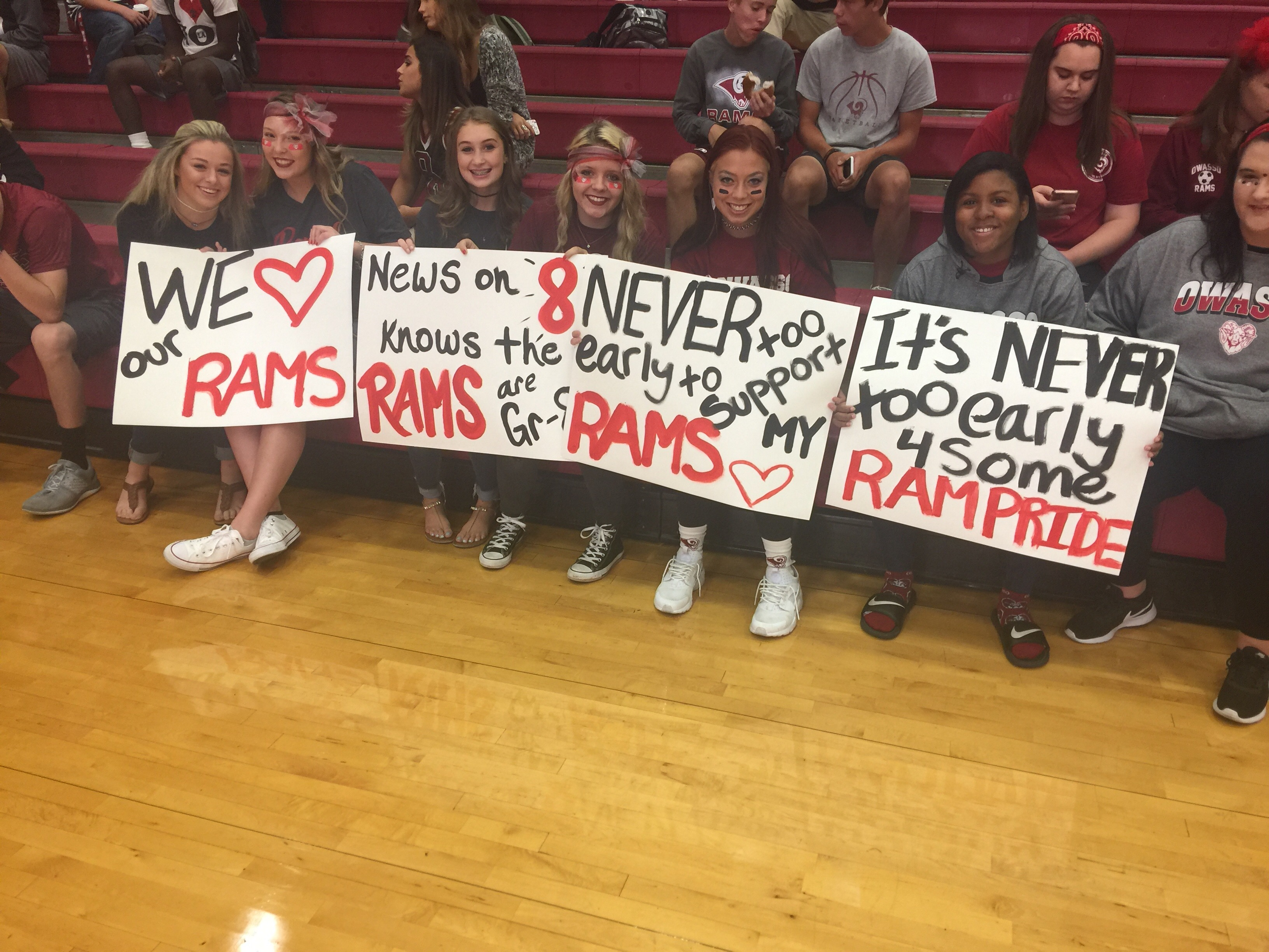 Owasso High School students showed up early Friday morning for the latest edition of Pep Rally Friday with Tulsa's Channel 8. (KTUL)