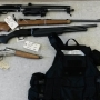 'This is what drug dealers look like': Pair busted with meth, guns, cash, body armor