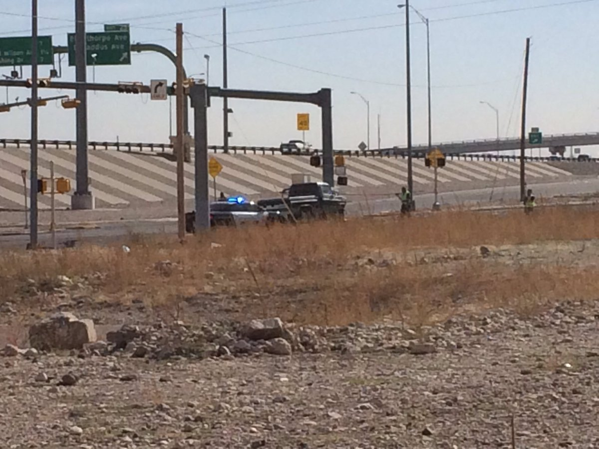 Crash site at Gateway S. at Dyer in northeast El Paso Friday, Nov. 22, 2017. (Credit: KFOX14/CBS4)