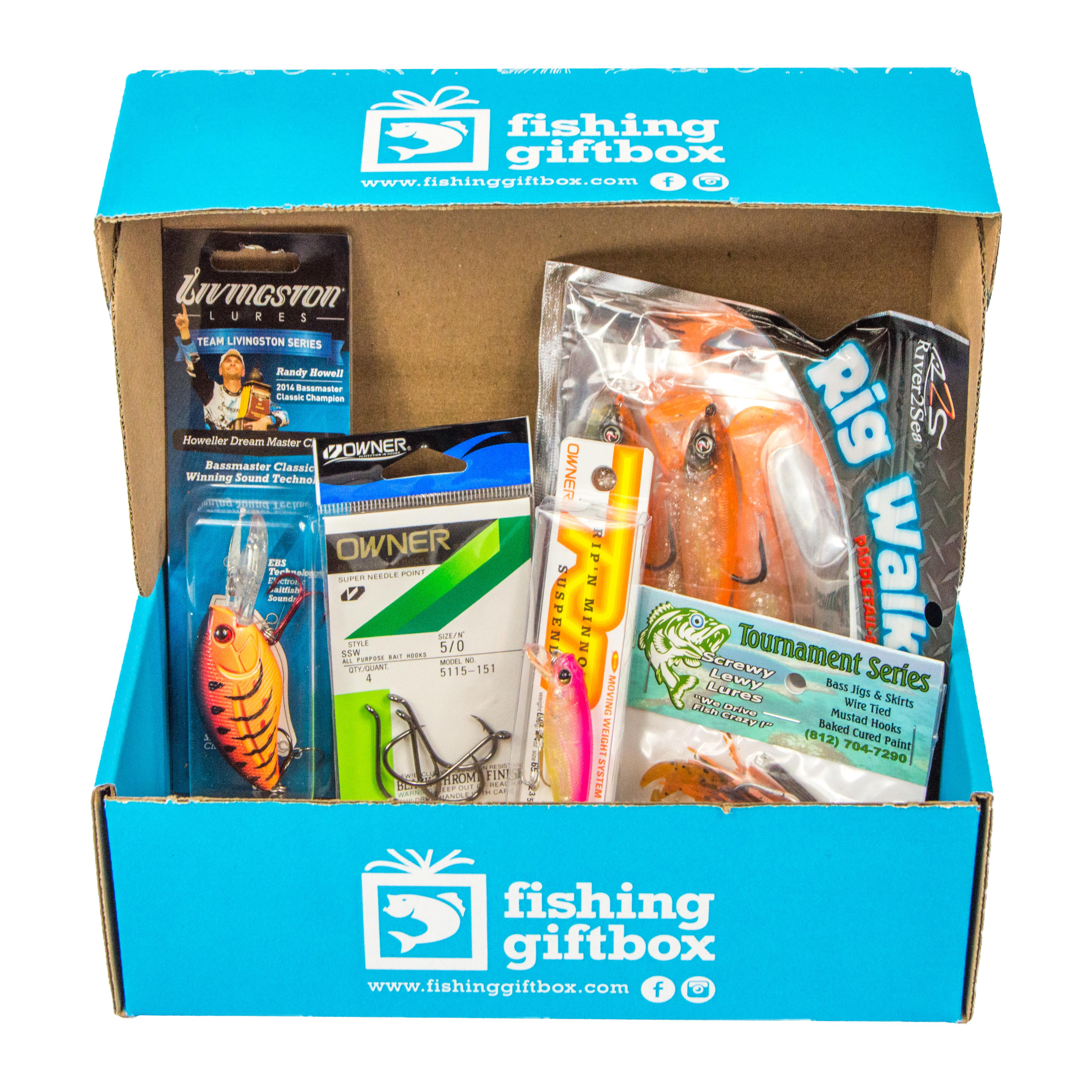 Fishing GiftBox is a monthly subscription box for every angler, fresh or saltwater! The best lures, tackle and fishing gear conveniently delivered straight to your door. No more guessing what the fish are biting or if you have the right tackle. (Fishing Gift Box // http://fishinggiftbox.com/)
