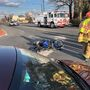 One injured after motorcycle collides with car