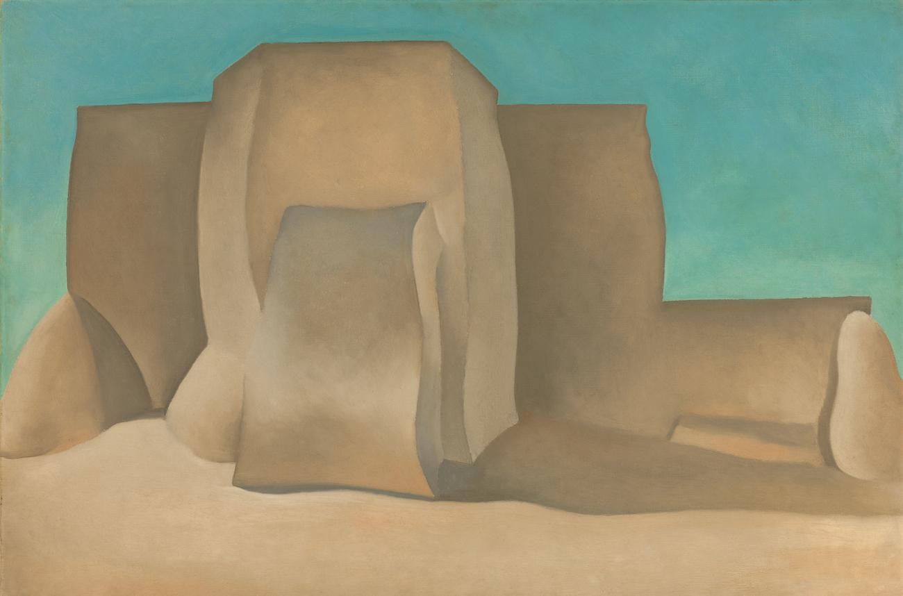 'Ranchos Church, No. II' (1929) by Georgia O'Keeffe / Image courtesy of the Taft Museum of Art // Published: 5.1.19