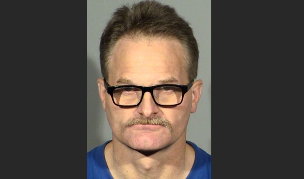 David Updike, accused of dragging his dog through McCarran Airport{ } (LVMPD/KSNV)
