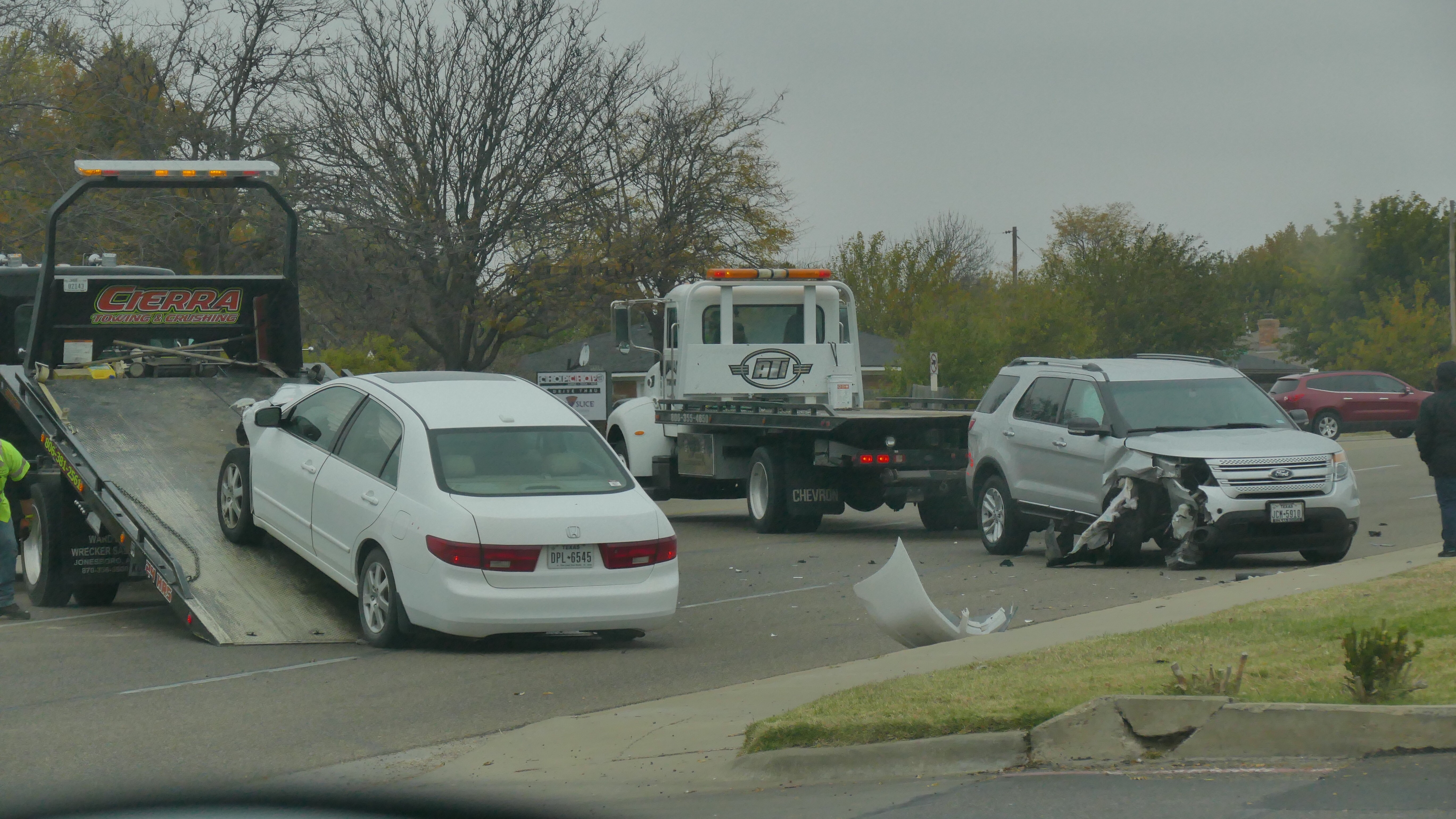 Two separate Friday morning crashes have caused traffic to slow on Coulter Street. (ABC 7 Amarillo - Steve Douglass)