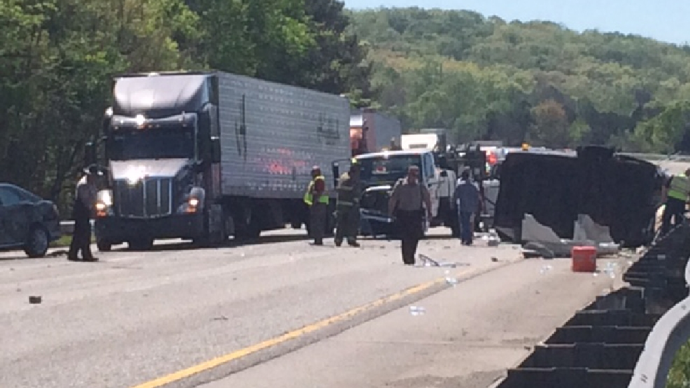 Accident on I-75 North in Georgia near the Battlefield
