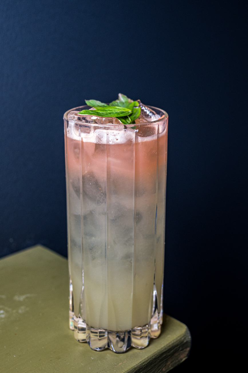 Grapefruit Basil Margarita: house-made margarita mix, grapefruit foam, grapefruit zest, and fresh basil / Image: Catherine Viox // Published: 1.23.20